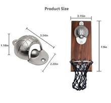 Load image into Gallery viewer, bottle opener in a shape of a basketball