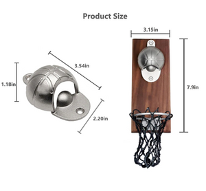 bottle opener in a shape of a basketball