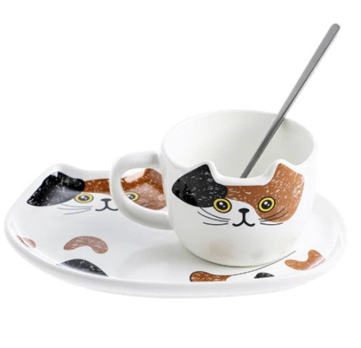 picture of a fancy cat coffee mug