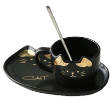 Load image into Gallery viewer, picture of a fancy cat coffee mug 1