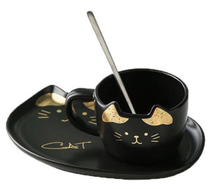 picture of a fancy cat coffee mug 1