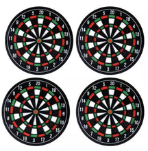 Load image into Gallery viewer, 3 coasters in a shape of dart boarders  1