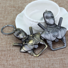 Load image into Gallery viewer, bottle opener deadpool silver and bronze