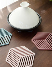 Load image into Gallery viewer, hexagon coasters on a table 9