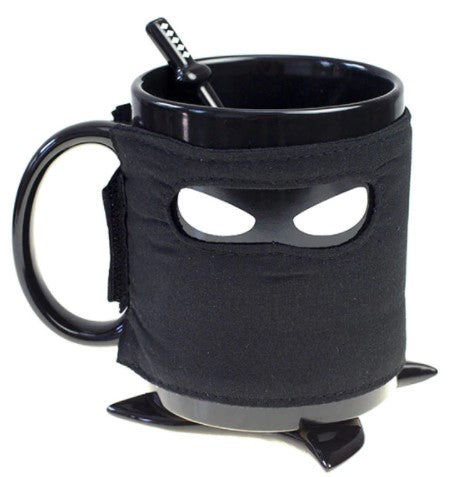Photo of a ninja-shaped mug