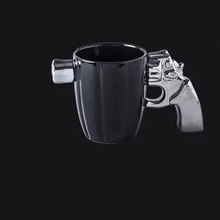 Load image into Gallery viewer, pistol mug black05