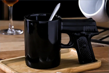 Load image into Gallery viewer, pistol mug black06