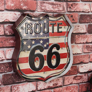 Route 66 - Vintage Led Sign
