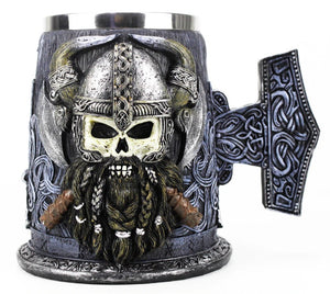 picture of a viking beer mug