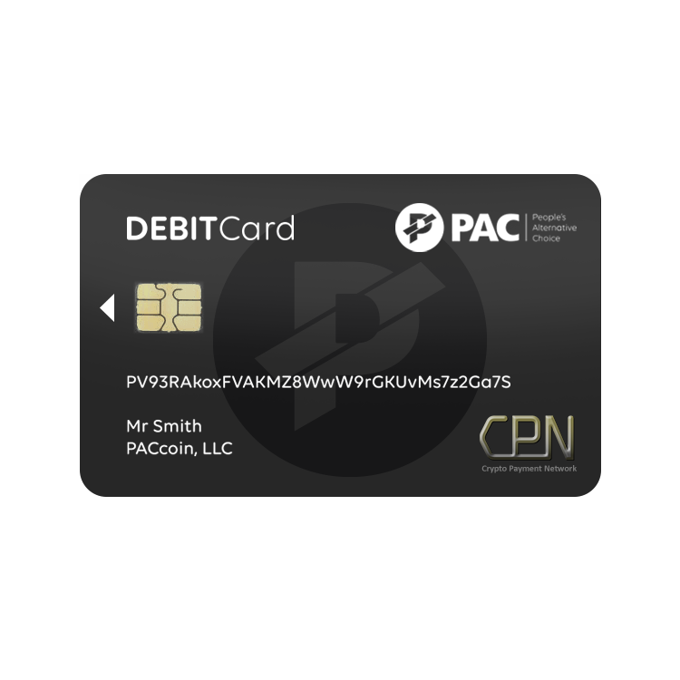 $PAC Coin Debit Card