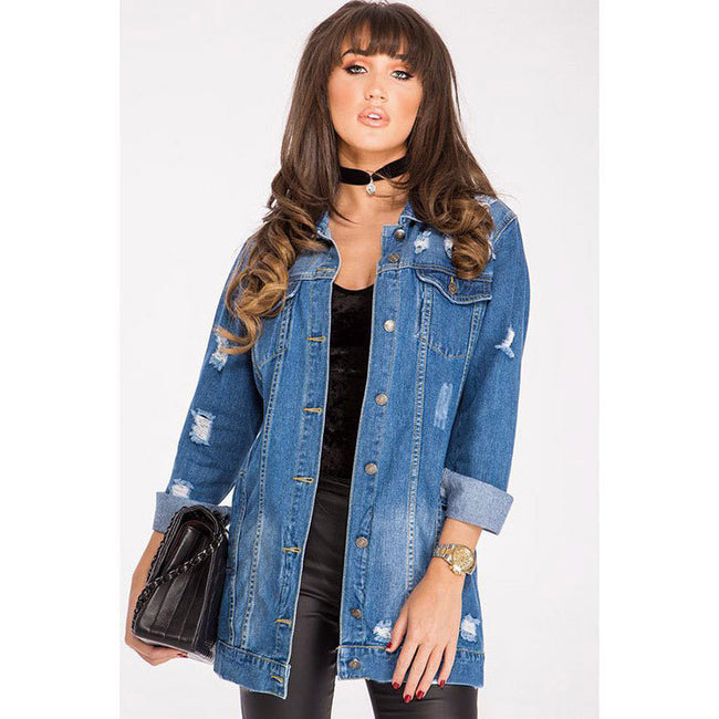 PansyGal Women Denim Button Down Long Sleeve Jean Jacket