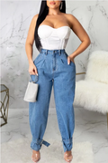 PansyGal High Waist Pocket Loose Jeans