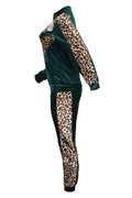 PansyGal Trendy Leopard Two-piece Pants Set