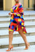 PansyGal Casual Color Block Patchwork Knee Length Dress