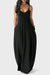 PansyGal V Neck Asymmetrical Blending Floor Length Dress
