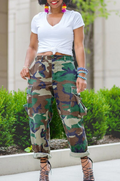 PansyGal CASUAL POCKET CAMOUFLAGE PANTS