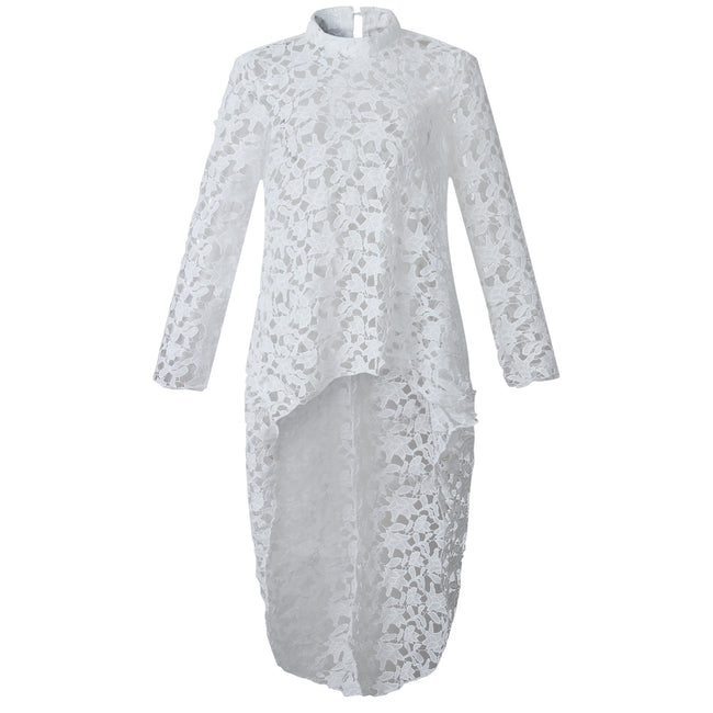 PansyGal Trendy Hollowed-out Lace Shirts