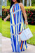 PansyGalHalter Neck Striped Printed Ankle Length Dress