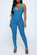 PansyGal Sexy Halter Neck One-piece Jumpsuit