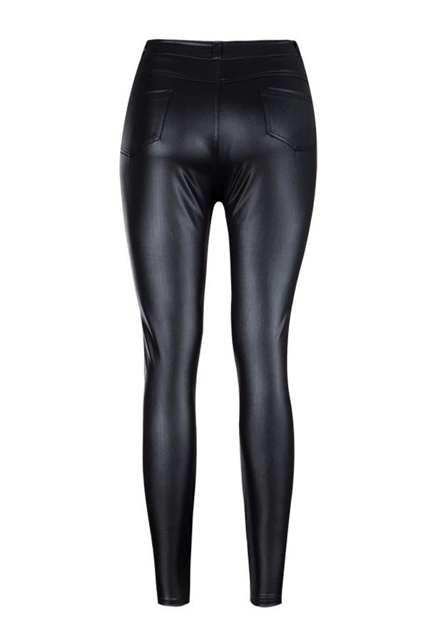 PansyGal High Waist Zipped Pants