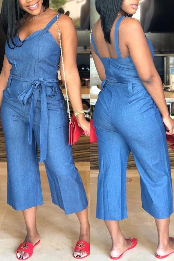 PansyGal Polyester Solid Regular Jumpsuits