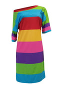 PansyGal Casual Stripesd Knee Length Dress