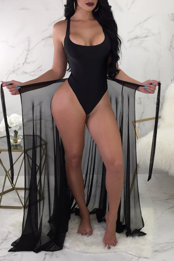 PansyGal Sexy See-Through Two-piece Swimwear