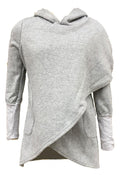 PansyGal Casual Asymmetrical Long Hoodies