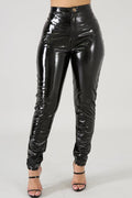 Pansygal Fashionable PU Skinny Pants