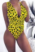 PansyGal Leopard Printed One-piece Swimwears