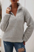PansyGal Casual Zip Up Fluffy Hoodies