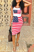 PansyGal Independence Day Casual Two-piece Skirt Set