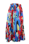PansyGal Casual Printed Ankle Length Skirt