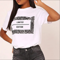 PansyGal Casual O Neck Letter Printed Jacinth T-shirt