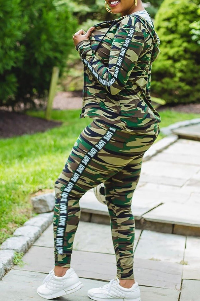 PansyGal Camo Printed Three PC Sets