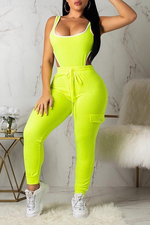 PansyGal  Leisure Hollow-out Two-piece Pants Set