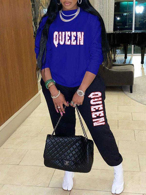 PansyGal QUEEN Sweatshirt & Pants Set