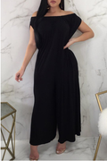 PansyGal Casual Dew Shoulder One-piece Jumpsuit