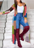 PansyGal Colorblock Side-Slit Cardigan