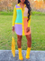 PansyGal Colorblock Shirt Dress