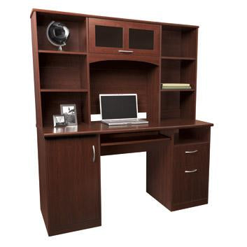 Realspace Outlet Landon Desk With Hutch 64 Quot H X 55 1 2 Quot W X