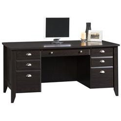 (Scratch & Dent) Sauder Outlet Shoal Creek 65'' Executive Desk, 30 1/2''H x 65''W x 29 1/4''D, Jamocha Wood