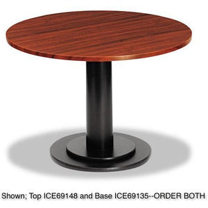 "Iceberg Single-Column Base for Round Table Tops, 29""H x 23 1/2""W x 23 1/2""D, Black"