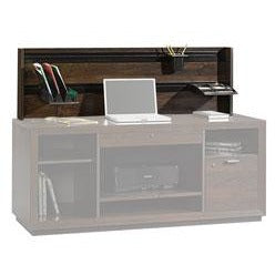"Sauder Forte Collection Hutch/Privacy Wall With Organizer Accessories, 17 5/16""H x 56 1/2""W x 4""D, Dark Alder"