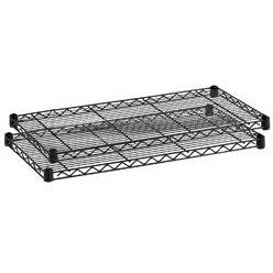 Safco Outlet Commercial Wire Shelving, Additional Shelves, Black, Pack Of 2