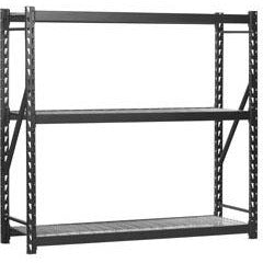"Edsal Outlet Heavy-Duty Welded Storage Rack, 72""H x 72""W x 24""D, Black"