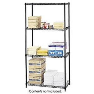 Safco Outlet Commercial Wire Shelving, Black
