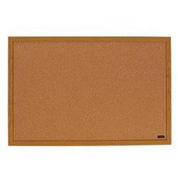 "(Scratch & Dent) FORAY Outlet Cork Bulletin Board, Oak Finish Frame, 72"" x 48"""