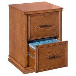 Realspace Outlet Premium Wood File, 2 Drawers, 30''H x 21''W x 18 9/10''D, Oak