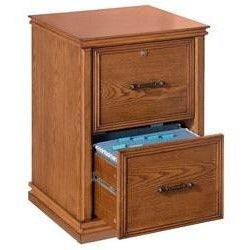 (Scratch & Dent) Realspace Outlet Premium Wood File, 2 Drawers, 30''H x 21''W x 18 9/10''D, Oak